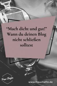 Blog schliessen