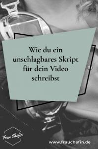 Skript für Video schreiben