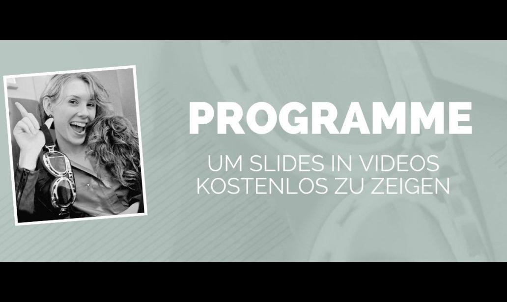 Programme Slides in Videos