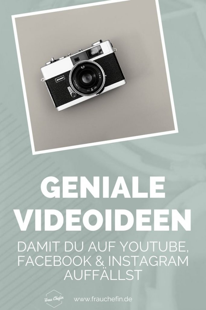 Video Ideen YouTube, Facebook, Instagram